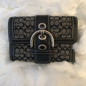 Coach Small Black & Grey Small Wallet
